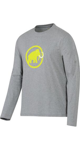 Mammut M's Logo Longsleeve stone grey melange-limeade